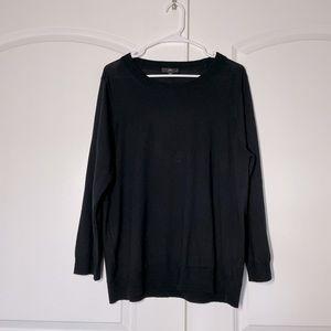 J Crew Black Merino Tippi Sweater size XXL